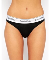 Calvin Klein - Modern - String en coton - Noir