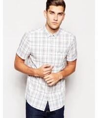 Jack Wills - Hemd mit karierten, kurzen Ärmeln - Weiß