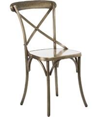 Madam Stoltz Kovová židle Antique Brass