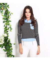 Lesara Langarmshirt im 2-in-1-Look - Mehrfarbig - L