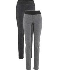 John Baner JEANSWEAR Lot de 2 leggings en jean, T.N. gris femme - bonprix