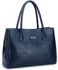 NUCELLE dámská kožená kabelka Oxford modrá