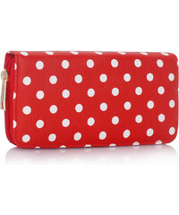 L&S Fashion (Anglie) Peněženka LS1048 červená