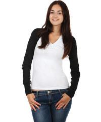 TopMode Módní svetrové bolerko s dlouhým rukávem černá
