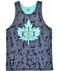 K1X core reversible mesh jersey black camo/mint M