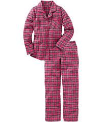 bpc bonprix collection Pyjama en flanelle bleu manches longues lingerie - bonprix