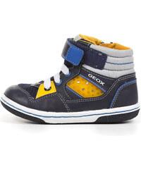 Geox Chlapecké tmavě modré kotníkové tenisky Baby Flick Boy B4437J