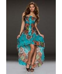 Dlouhé letní šaty Flam Mode - tyrkys