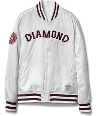 bunda DIAMOND - Dugout Varsity Jacket White (WHITE)