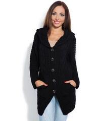 Dámský pletený kabátek Fobya F153 černý
