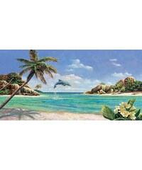 HOME AFFAIRE Decopanel A. D. Missier/Seychellen 100/50 cm blau