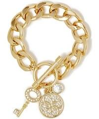 Guess Náramek Melina Gold-Tone Quattro G Bracelet