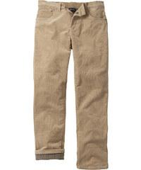 bpc bonprix collection Pantalon en velours côtelé extensible thermo, N. beige homme - bonprix