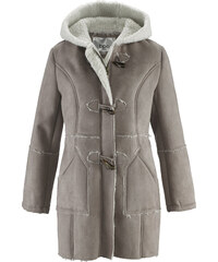 """bpc bonprix collection Duffle-coat imitation peau d""""agneau marron manches longues femme - bonprix"""
