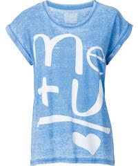 RAINBOW T-Shirt kurzer Arm in blau (Rundhals) für Damen von bonprix