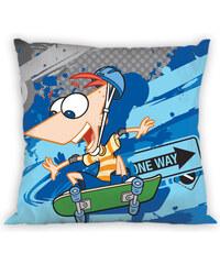 Faro Povlak na polštářek Phineas a Ferb bavlna 40x40 cm