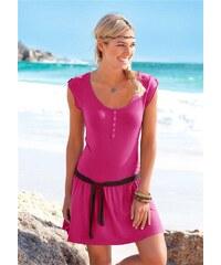006 Letní šaty plážové růžové vel.38