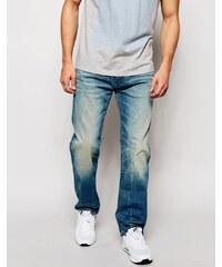 G-Star - 3301 - Jeans mit lockerer Passform aus Cyclo-Stretch in leichter Used-Optik - Blau