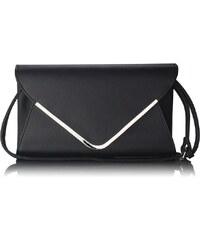 LS Fashion Elegantní černá kabelka-psaníčko LSE00166B černá