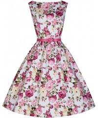 LINDY BOP RETRO DÁMSKÉ ŠATY AUDREY pink rose velikosti: 38