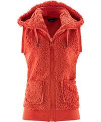 bpc bonprix collection Veste polaire peluche sans manches rouge femme - bonprix