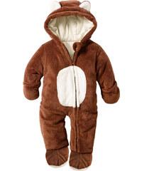bpc bonprix collection Combinaison bébé en synthétique imitation fourrure peluche marron manches longues enfant - bonprix