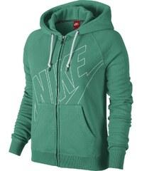 Nike RALLY FZ HOODY-LOGO zelená L