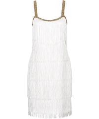 BODYFLIRT boutique Kleid mit Fransen ohne Ärmel in weiß von bonprix