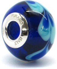 Vinutá perla Dora - benátské sklo - Murano - rhd5