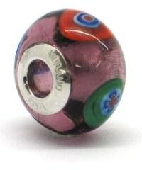 Vinutá perla Dora - benátské sklo - Murano - rm47