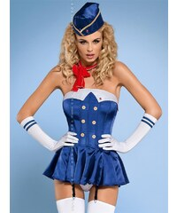 Sexy kostým Stewardess corset - Obsessive