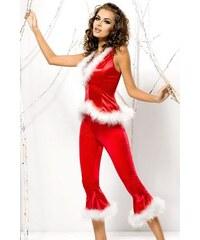Vánoční kostým Santa Lady pants+vest - Obsessive