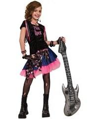 Rubies Pink Rock Girl - L 8 - 10 roků