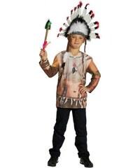 Rubies Tričko s potiskem indián - 104