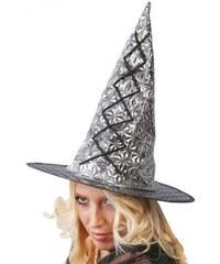 Fiestas Guirca Čarodějnický klobouk stříbrný