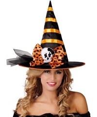 Fiestas Guirca Černo-oranžový čarodějnický klobouk