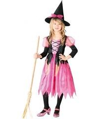 Fiestas Guirca Kostým růžová čarodějnice - 10 - 12 roků