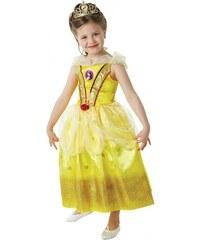 Rubies Kostým kráska Bella s flitry - licenční kostým - LD 7 - 8 roků
