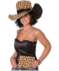Dámský klobouk Leopard s kabelkou
