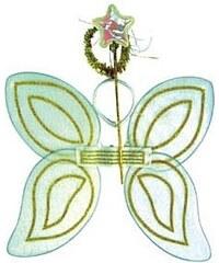 Motýlek set bílý