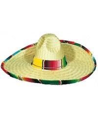 Klobouk mexický s barevným lemem