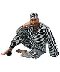 Rubies Kostým pro dospělé - vězeň - 50