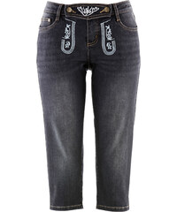 bpc bonprix collection Trachten-Jeans mit Stickerei, 3/4-Länge in schwarz für Damen von bonprix