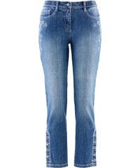 bpc bonprix collection Trachten-Jeans mit Stickerei in 7/8-Länge, schmales Bein in blau für Damen von bonprix