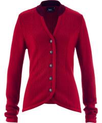 bpc bonprix collection Trachten Strickjacke mit Stehkragen in Kontrastfarbe langarm in rot für Damen von bonprix
