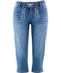 bpc bonprix collection Trachten-Jeans mit Stickerei, 3/4-Länge in blau für Damen von bonprix