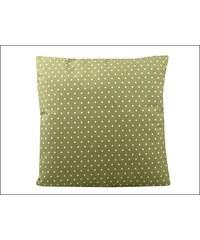 Puntíkovaný zelený povlak na polštář