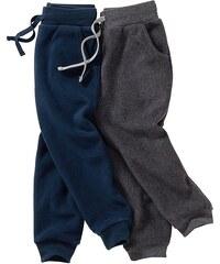 bpc bonprix collection Flísové kalhoty (2 ks v balení) bonprix