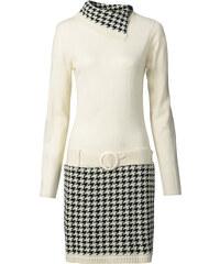 BODYFLIRT boutique Strickkleid in weiß von bonprix