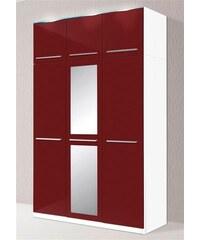 Kleiderschrank 2- bis 5-türig Baur weiß matt/rot Hochglanz